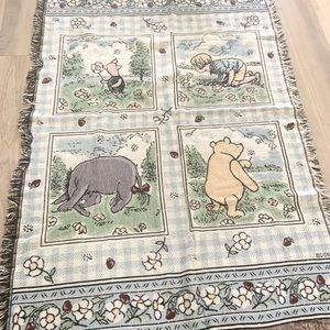Vintage Goodwin Weavers Classic Pooh Blanket
